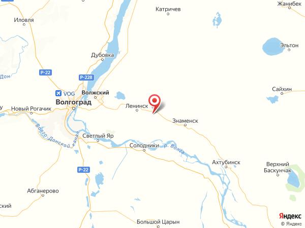 село Царев на карте