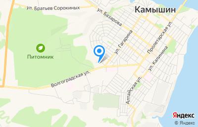 Местоположение на карте пункта техосмотра по адресу Волгоградская обл, г Камышин, ул Волгоградская, д 30