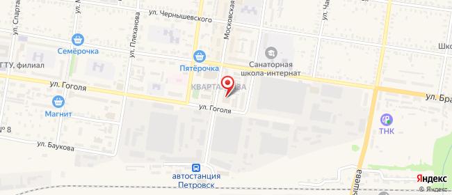 Карта расположения пункта доставки СИТИЛИНК в городе Петровск