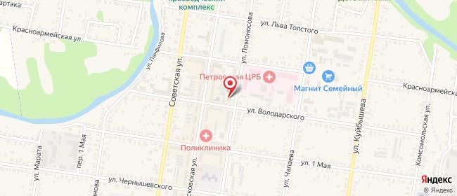 Карта расположения пункта доставки Петровск Володарского в городе Петровск