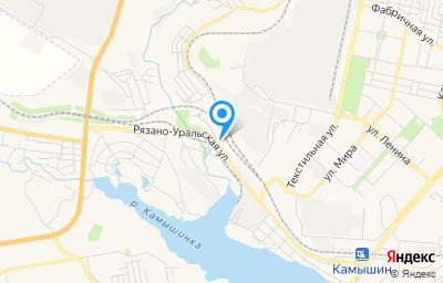 Местоположение на карте пункта техосмотра по адресу Волгоградская обл, г Камышин, ул Рязано-Уральская, д 52А