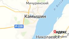 Гостиницы города Камышин на карте