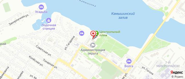 Карта расположения пункта доставки Ростелеком в городе Камышин