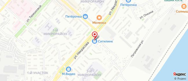 Карта расположения пункта доставки СИТИЛИНК в городе Камышин