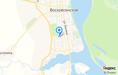 Местоположение на карте пункта техосмотра по адресу Нижегородская обл, рп Воскресенское, ул Синявина, д 10/2