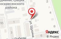 Схема проезда до компании СТОЛОВАЯ в Воскресенском