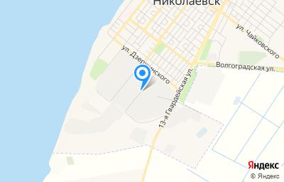 Местоположение на карте пункта техосмотра по адресу Волгоградская обл, г Николаевск, ул Сивко, д 165А