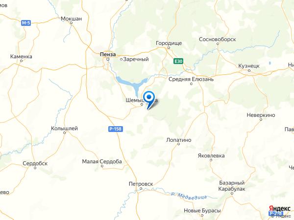 село Мордовская Норка на карте