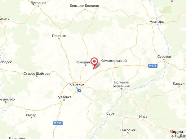 посёлок Малые Березники на карте