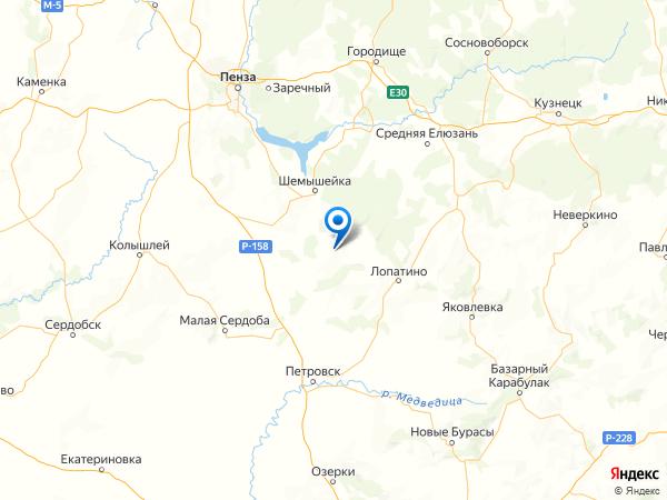 село Пестровка на карте