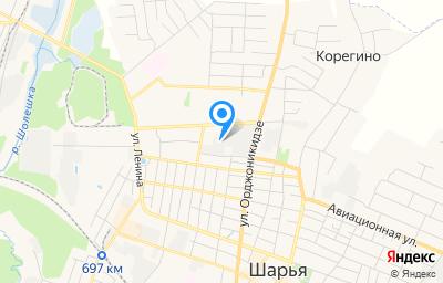 Местоположение на карте пункта техосмотра по адресу Костромская обл, г Шарья, ул Ивана Шатрова, д 22А, пом 2