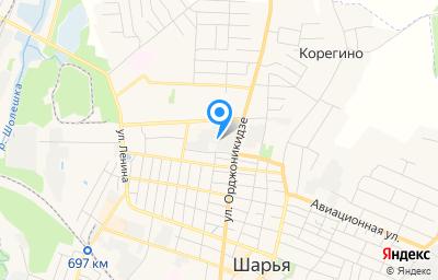 Местоположение на карте пункта техосмотра по адресу Костромская обл, г Шарья, ул Ивана Шатрова, д 18