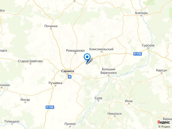 деревня Анучино на карте