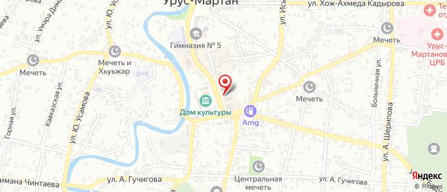 Карта расположения пункта доставки Билайн в городе Урус-Мартан