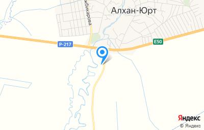 Местоположение на карте пункта техосмотра по адресу Респ Чеченская, Урус-Мартановский р-н, с Алхан-Юрт, д 29