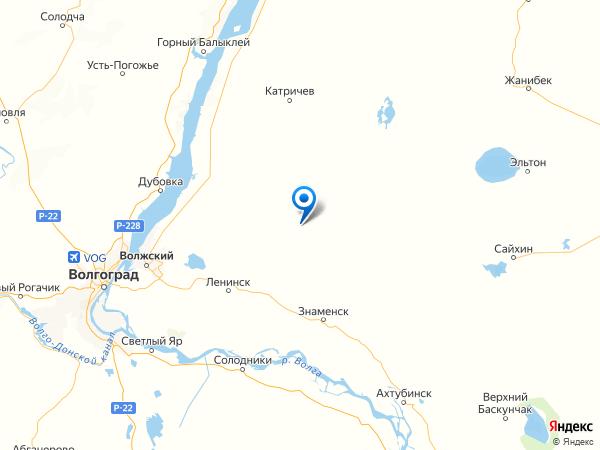 поселок Степной на карте