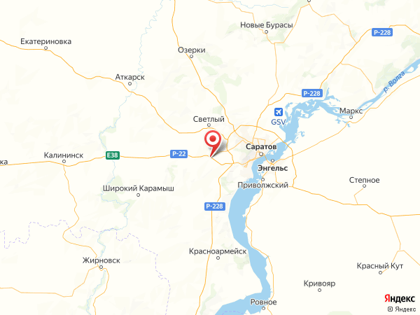 село Песчаный Умет на карте