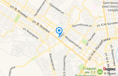 Местоположение на карте пункта техосмотра по адресу г Грозный, ул Старопромысловское шоссе, д 34