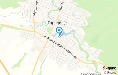Местоположение на карте пункта техосмотра по адресу Пензенская обл, г Городище, ул Чкалова, д 1В