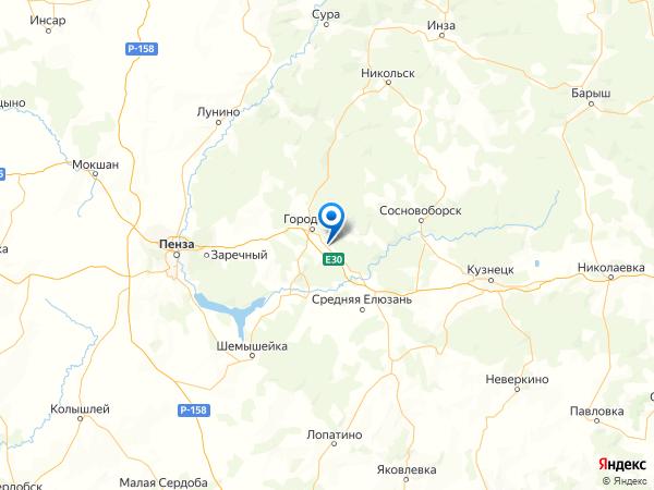 поселок Середа на карте