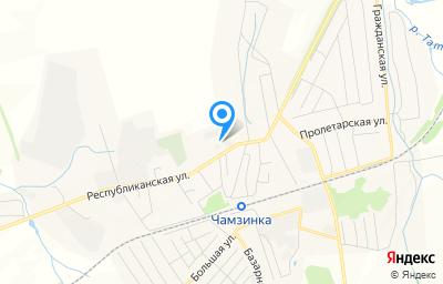 Местоположение на карте пункта техосмотра по адресу Респ Мордовия, рп Чамзинка, ул Республиканская, стр 15Б/8