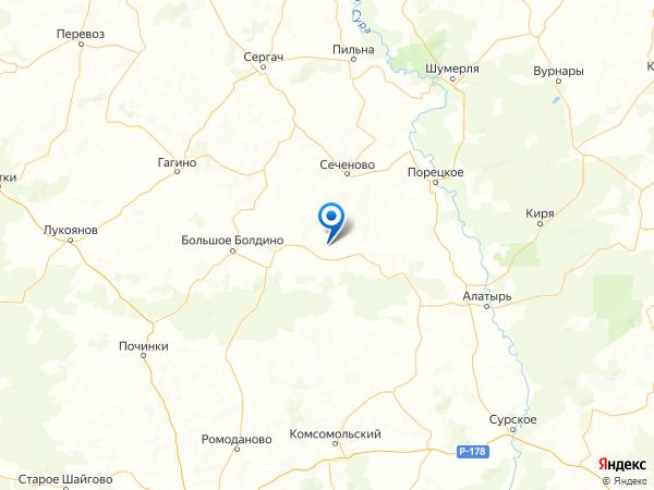 село Чадаевка на карте