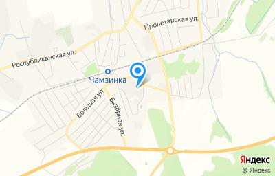 Местоположение на карте пункта техосмотра по адресу Респ Мордовия, рп Чамзинка, ул Лесная, д 3В
