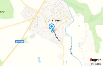 Местоположение на карте пункта техосмотра по адресу Пензенская обл, с Лопатино, ул Юбилейная, стр 41
