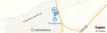 Алёнушка на карте Сторожёвки