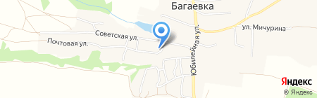 Почтовое отделение на карте Багаевки