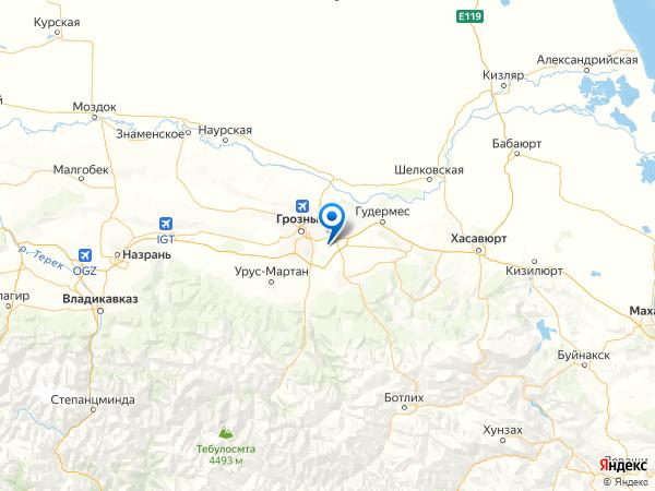 село Бердакел на карте