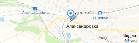 Магазин хозтоваров на Центральной на карте Александровки