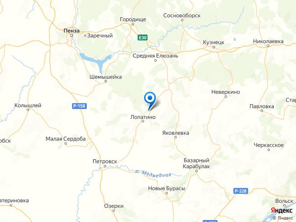 село Пылково на карте