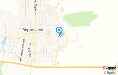 Местоположение на карте пункта техосмотра по адресу Нижегородская обл, рп Воротынец, ул Механизаторов, д 1Д