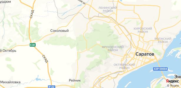 Саратов на карте