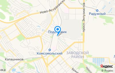 Местоположение на карте пункта техосмотра по адресу г Саратов, ул Васильковская, д 1