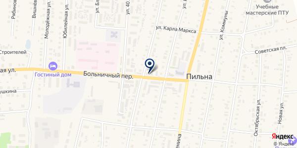 АПТЕКА ГУРОВА Н. П. на карте Пильне