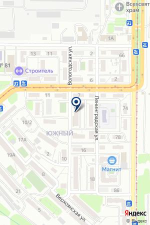 Витязь-92 на карте Саратова