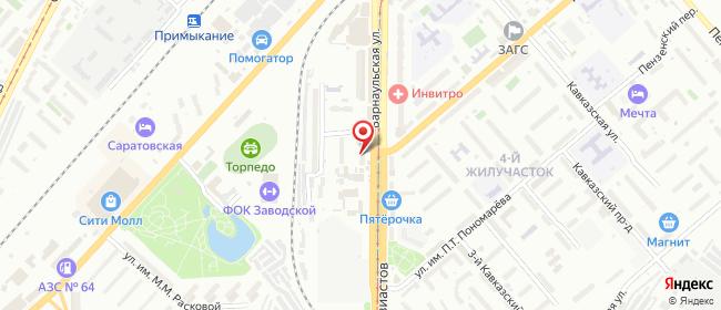 Карта расположения пункта доставки Саратов Энтузиастов в городе Саратов