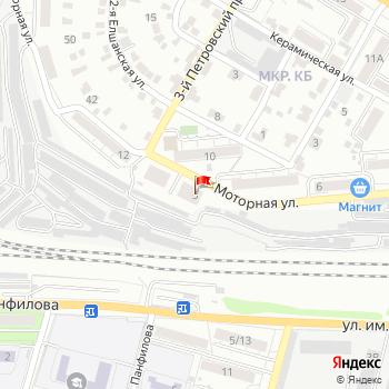 г. Саратов, ул. Моторная,1 на карта