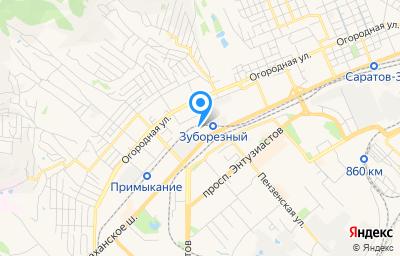 Местоположение на карте пункта техосмотра по адресу г Саратов, ш Ново-Астраханское, д 73