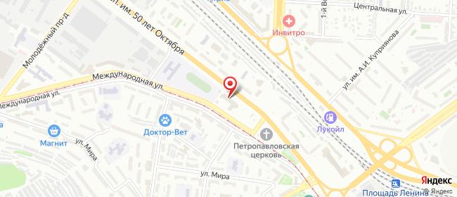 Карта расположения пункта доставки Пункт выдачи в городе Саратов