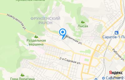 Местоположение на карте пункта техосмотра по адресу г Саратов, ул Новоузенская, д 214