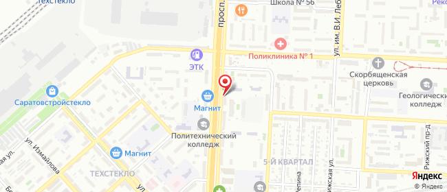 Карта расположения пункта доставки Саратов Строителей в городе Саратов