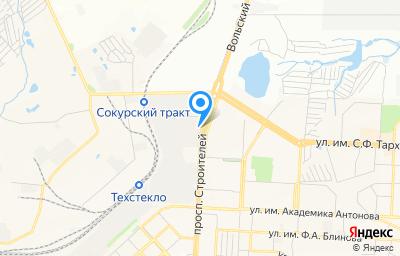 Местоположение на карте пункта техосмотра по адресу г Саратов, пр-кт Строителей, д 37