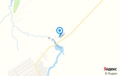 Местоположение на карте пункта техосмотра по адресу Пензенская обл, Городищенский р-н, с Средняя Елюзань