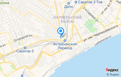 Местоположение на карте пункта техосмотра по адресу г Саратов, ул Политехническая, д 3