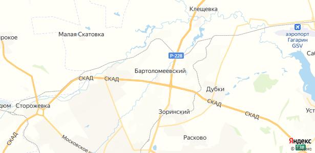 Бартоломеевский на карте