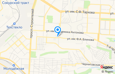 Местоположение на карте пункта техосмотра по адресу г Саратов, ул им академика О.К.Антонова, д 14