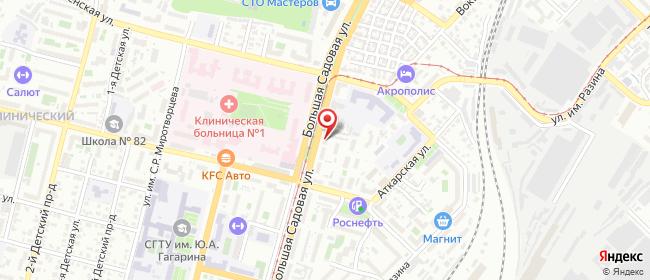 Карта расположения пункта доставки Большая Садовая в городе Саратов